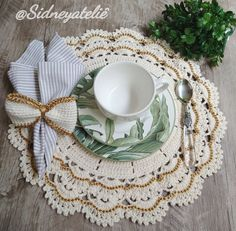 Doilies, Crochet Table Mat, Straw Bag, Instagram, Crochet Leaves, Crocheting, Events, Tricot