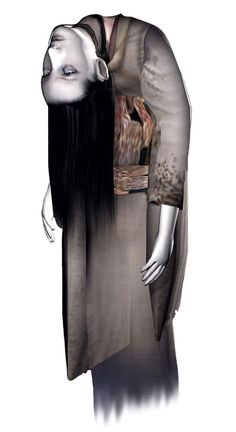View an image titled 'Broken Neck Woman Art' in our Fatal Frame art gallery featuring official character designs, concept art, and promo pictures. Fatal Frame, Scariest Video Games, Light Vs Dark, Studio Ghibli Characters, Microscopic Photography, Look Dark, Gaming Tattoo, Leg Sleeves, Game Concept Art