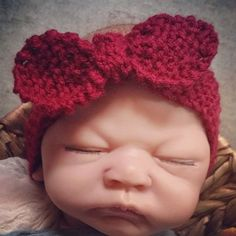 PATTERN 'Holly' Newborn Headband PATTERN by alittleknittyjen on Etsy