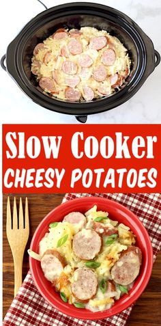 Kielbasa and Potatoes Crockpot Casserole Bake Easy Crock Pot Recipes! Your famil… Kielbasa and Potatoes Crockpot Casserole Bake Easy Crock Pot Recipes! Your family will love this cozy comfort dinner recipe… and it's so EASY to make! Just 5 Ingredients! Crockpot Sausage And Potatoes, Kielbasa And Potatoes, Crock Pot Potatoes, Easy Crockpot Chicken, Sausage Pie, Slow Cooker Desserts, Slow Cooker Recipes, Cooking Recipes, Easy Goulash Recipes