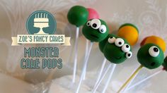 Monster cake pops: How to make basic cake pops for beginners quick and easy