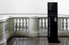 Nordiska museet was in need of acomplete signage and wayfinding system. The solution was asubtle, dignified and elegant system that takes the visitor by the hand and never letsgo.