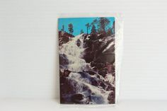 EAGLE FALLS Post Card,Emerald Bay California photo,Lake Tahoe area photo,nature picture,scenic photograph,waterfall photo,Vintage Souvenir