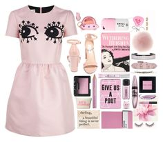 """""""Untitled #3558"""" by sofemmeia ❤ liked on Polyvore featuring RED Valentino, Steve Madden, Olympia Le-Tan, Valfré, Charlotte Olympia, Versace, Valentino, Blooming Lotus Jewelry, Kate Spade and Disaster Designs"""