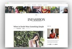 Here is the collection of best simple WordPress Themes that will allow you to create simple website effortlessly with their simple and friendly interface. Fashion Blog Names, Best Fashion Blogs, Web Design, Book Design, Simple Wordpress Themes, Adoption, Simple Website, Website Ideas, Magazine Template