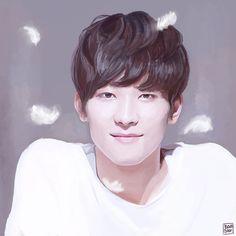 Wonwoo | SEVENTEEN | <3  [FAN ART] Kpop Fanart, Got7 Fanart, Twilight Videos, Frozen Drawings, Seventeen Wonwoo, Seventeen Wallpapers, Princess Drawings, Couple Art, Disney Fan Art