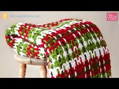 Left Hand: Crochet Plaid Woven Blanket Tutorial - YouTube