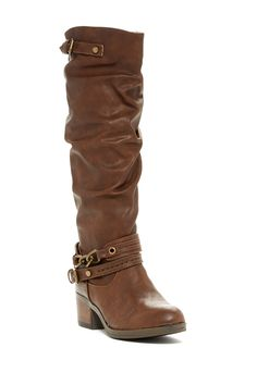 Carlos By Carlos Santana Cassie Slouch Shaft Boot - love these slouchy boots! Notice the buckle details. Swag Shoes, Shoes Heels, Best Looking Shoes, Slouchy Boots, Cute Boots, Western Boots, Louisiana, New Orleans, Leather Boots