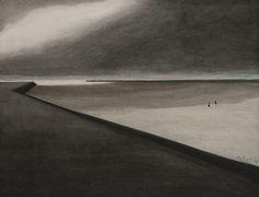 Léon Spilliaert — «Digue et plage», 1907