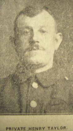 Burnley Roll of Honour Private Henry Taylor