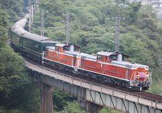 特別なトワイライトエクスプレスin伯備線 Diesel Engine, Abandoned, Engineering, Japan, Life, Trains, Left Out, Technology, Japanese
