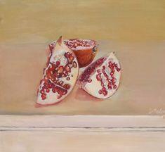 #Granatapfel #Obst #fineart #Kunst #ölmalerei Etsy Seller, Fertility, Painted Canvas, Pomegranate, The Fruit
