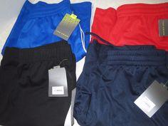 Lot of 4 pr Tek Gear Boys Athletic Shorts Sz L 14/16 Black Royal Red Navy New #TekGear #Everyday
