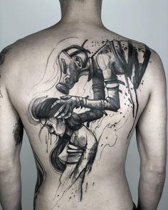 Paulo Reis's black watercolor tattoo- Paulo Reis's black watercolor tattoo Tattoo artist Paulo Reis, black sketch watercolor authors style tattoo Tattoos Masculinas, Weird Tattoos, Anime Tattoos, Body Art Tattoos, Sleeve Tattoos, Arrow Tattoos, Temporary Tattoos, Sketch Style Tattoos, Tattoo Sketches
