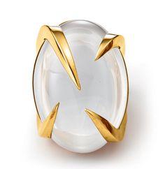 Tito Pedrini | Artigli Oval Ring in White Moonstone