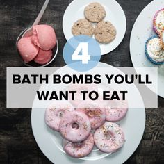 4 Bath Bombs You'll Want To Eat #bath #DIY #food #creative