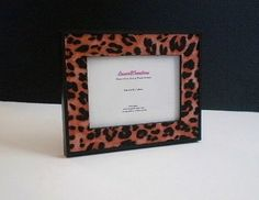 ANIMAL PRINT CHEETAH Picture Frame by LaurieBCreations $15