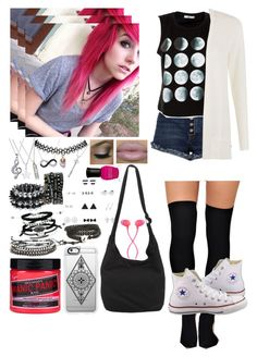 """""""Alex Dorame ~4~"""" by i-am-the-one-and-only ❤ liked on Polyvore featuring Lagos, River Island, People Tree, Converse, Manic Panic NYC, Disney, Casetify, Bling Jewelry, Deborah Lippmann and The House of Marley"""