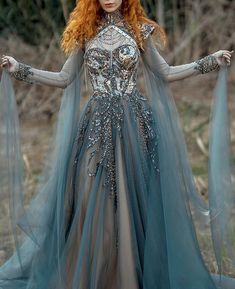 Pretty Outfits, Pretty Dresses, Most Beautiful Dresses, Fantasy Gowns, Fantasy Outfits, Fantasy Clothes, Haute Couture Gowns, Fairytale Dress, Mode Vintage