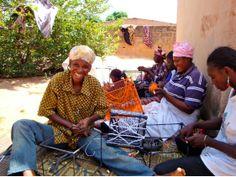 Basket-weavers in Burkina Faso making baskets for Yajibelena. http://stitchbystitch.eu/blog/2013/8/19/yajibelena-baskets-for-life