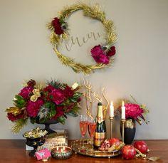 finch.thistle.pink.gold.glam.holiday.tabletop.wedding chicks design sponge