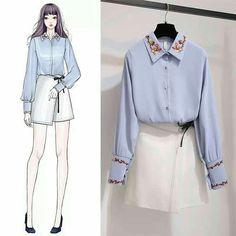Korean Fashion – How to Dress up Korean Style – Designer Fashion Tips Korean Fashion Trends, Korean Street Fashion, Asian Fashion, Cute Fashion, Look Fashion, Girl Fashion, Fashion Design Drawings, Fashion Sketches, Fashion Drawing Dresses