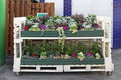 A potting table made of pallets.
