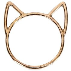 Womens Rings Catbird Lovecat Bronze Ring ($39) ❤ liked on Polyvore featuring jewelry, rings, cat ears ring, bronze jewelry, cut out ring, bronze ring and catbird rings
