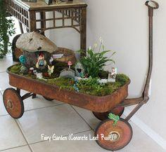 concrete leaves garden art, concrete masonry, container gardening, gardening