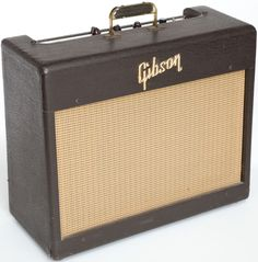 Musical Instruments:Amplifiers, PA, & Effects, 1957 Gibson GA-6 Brown Guitar Amplifier, Serial # 26997... Image #1
