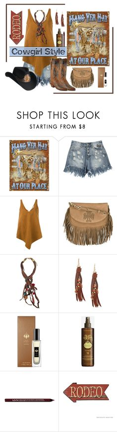 """""""Cowgirl Style"""" by outfitsloveyou ❤ liked on Polyvore featuring STELLA McCARTNEY, Lucchese, Tory Burch, Treska, Design Lab, Raw Spirit, Sun Bum, Charlotte Russe and Bailey Western"""