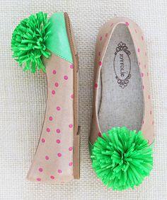 Love this Pink & Ivory Polka Dot Dottie Skimmer Flat - Kids on #zulily! #zulilyfinds
