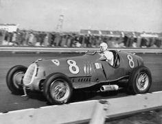 1936 Alfa Romeo 12C-36 piloted by Tazio Nuvolari in the Vanderbilt Cup.