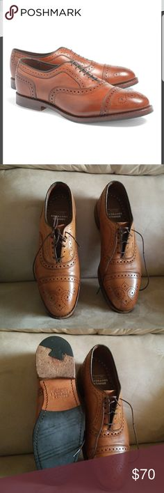 Medallion Perforated Captoes Made in America Lightly used in wonderful condition.  No box Brooks Brothers Shoes Oxfords & Derbys