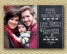 Christmas Photo Card  Customized DIY by SunshinePrintables on Etsy, $15.00