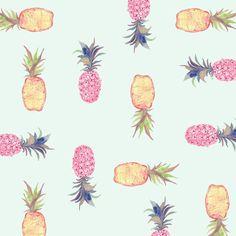 pinapple wallpaper iphone - Beautiful Fruit Patterns by Miji Lee Pineapple Pattern, Fruit Pattern, Pineapple Art, Pineapple Pictures, Beautiful Fruits, Kids Prints, Fun Prints, Floral Prints, Pretty Patterns