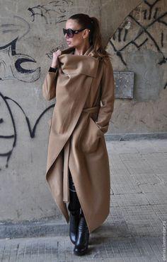 Верхняя одежда. Кашемировое пальто. Пальто экстравагантное. EUGfashion.