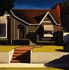 Kenton Nelson this style to simplify my painting ideas Grant Wood, Diego Rivera, Landscape Art, Landscape Paintings, Landscapes, The New Yorker, American Scene Painting, Edward Hopper, Paisajes