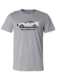 Take your passion further with gear from the Audi Collection like this grey quattro t-shirt.    –<em>Bill@ChoiceGear</em>