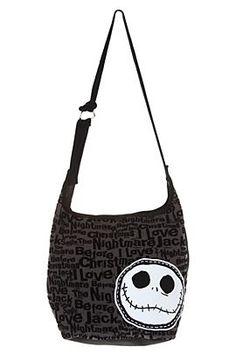 Disney Nightmare Before Christmas Black Flocked Hobo Bag - 196858 Disney  Handbags 7df7a9bad1