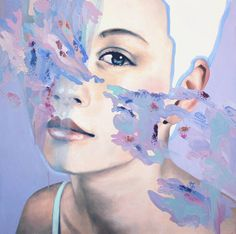 Abstract Oil Portraits Paintings by Andrea Castro