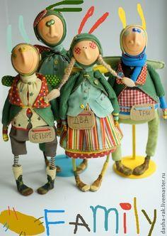 Коллекционные куклы ручной работы. Ярмарка Мастеров - ручная работа Ангелковая семья в сборе. Handmade.
