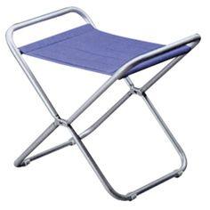 Taburete aluminio plegable 50x49x32h. Taburete nautico plegable con estructura de aluminio y tela acrilica color azul reforzada. En Nuestra Tienda Náutica On lin