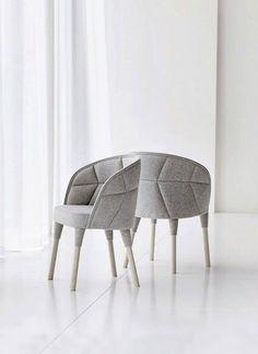 fauteuil design gris