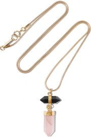 Isabel Marant Santa gold-tone, agate and quartz necklace