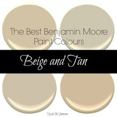 The best benjamin moore paint colours. Beige, tan and neutral colors for any room by Kylie M Interiors, Decorating Blog