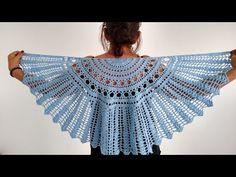 xale crochê meia lua - YouTube All Free Crochet, Crochet Top, Poncho Shawl, Knitting Videos, Diy And Crafts, Ruffle Blouse, Youtube, Women, Fashion