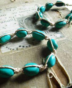 Bracelets  Set of two  Genuine Turquoise by RareDaisyJewelry, $29.99