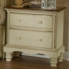 Wilshire Wood Nightstand in Antique White by Hillsdale | Humble Abode…