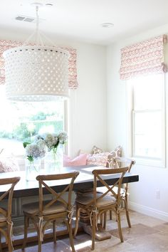 Read More: http://www.stylemepretty.com/living/2015/04/15/a-sunny-kitchen-nook-makeover/